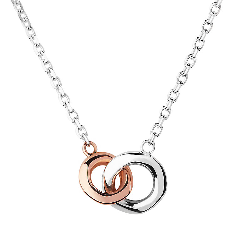 Links of London Silver And 18Ct Rose Gold Necklace - Product number 4586700