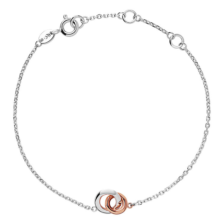 Links of London Silver And 18Ct Rose Gold Bracelet - Product number 4586719
