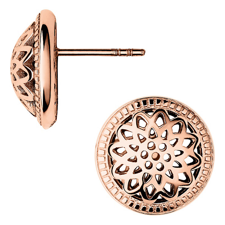 Links of London Timeless Rose Gold Vermeil Stud Earrings - Product number 4587820