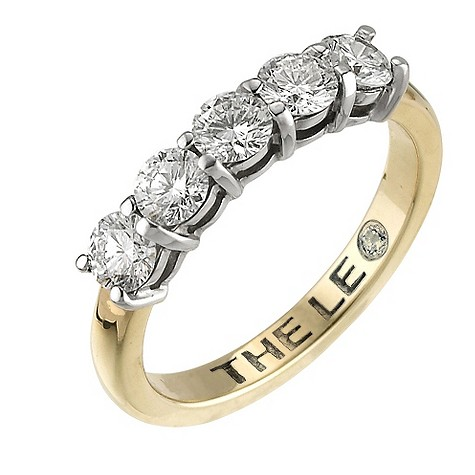 18ct gold one carat Leo diamond ring