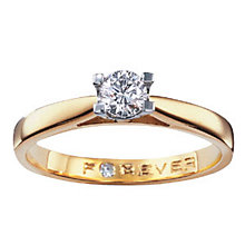 The Forever Diamond  - 18ct Gold 1/4 Carat Diamond Ring - Product number 4597850