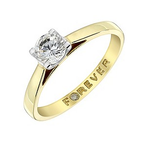 Forever Diamonds - 18ct Gold Half Carat Diamond Ring