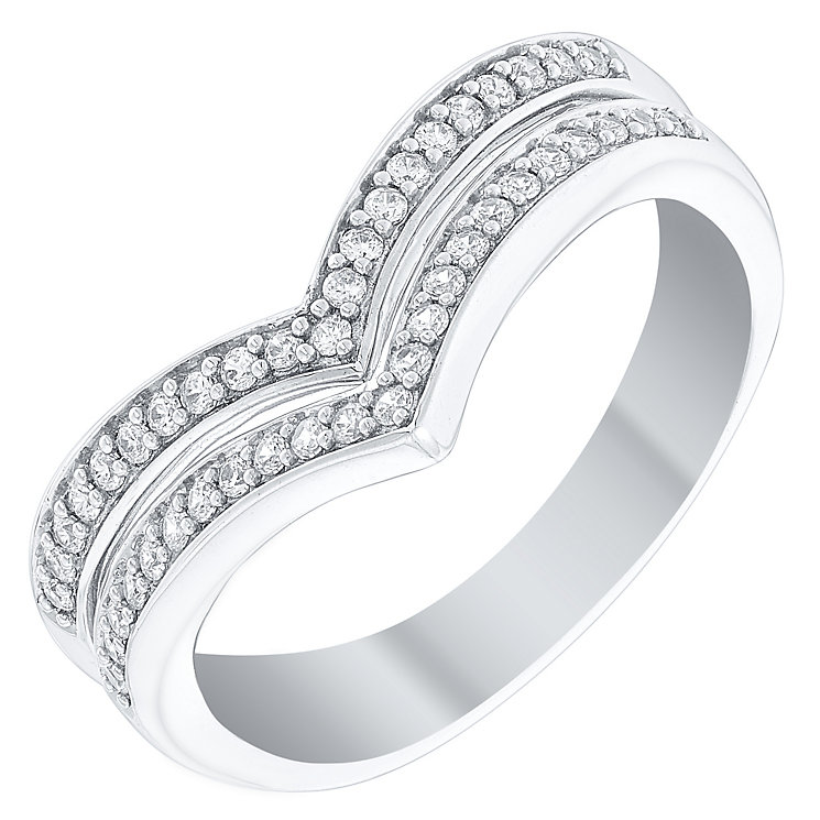Sterling Silver Cubic Zirconia Eternity Ring - Product number 4599284