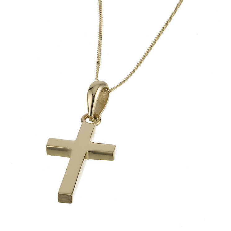 Yellow gold plain chunky cross - Product number 4599322
