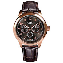 Rotary Men's Grey Dial Brown Leather Strap Watch - Product number 4606868