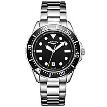Rotary Men's Black Dial Stainless Steel Bracelet Watch - Product number 4606884