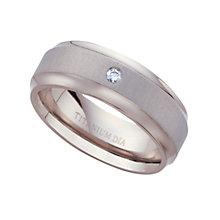 Titanium diamond ring - Product number 4607198
