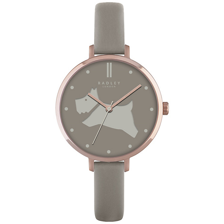 Radley Ladies' Grey Dial Grey Leather Strap Watch - Product number 4607864