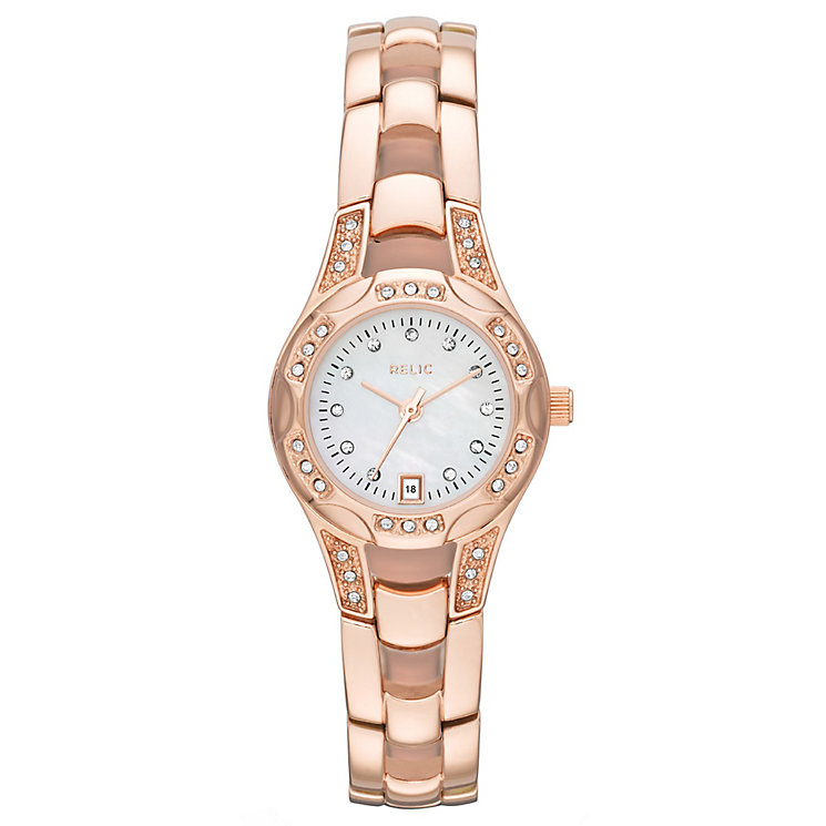Relic Ladies' Stone Set Rose Gold-Plated Bracelet Watch - Product number 4607937