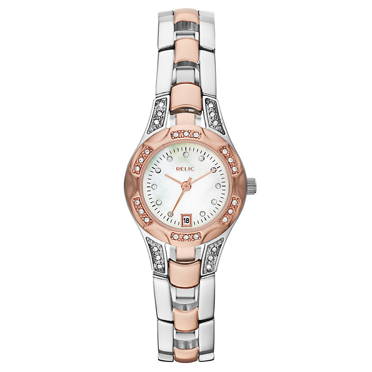 Relic Ladies' Stone Set Two Colour Bracelet Watch - Product number 4607945