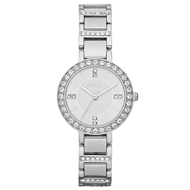 Relic Ladies' Stone Set Stainless Steel Bracelet Watch - Product number 4608178