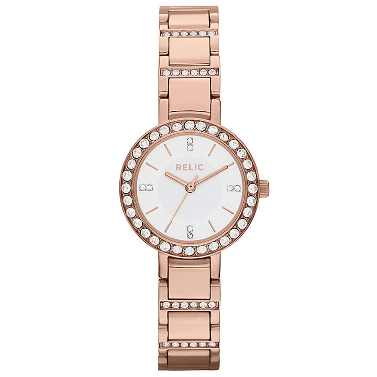 Relic Ladies' Stone Set Rose Gold-Plated Bracelet Watch - Product number 4608194