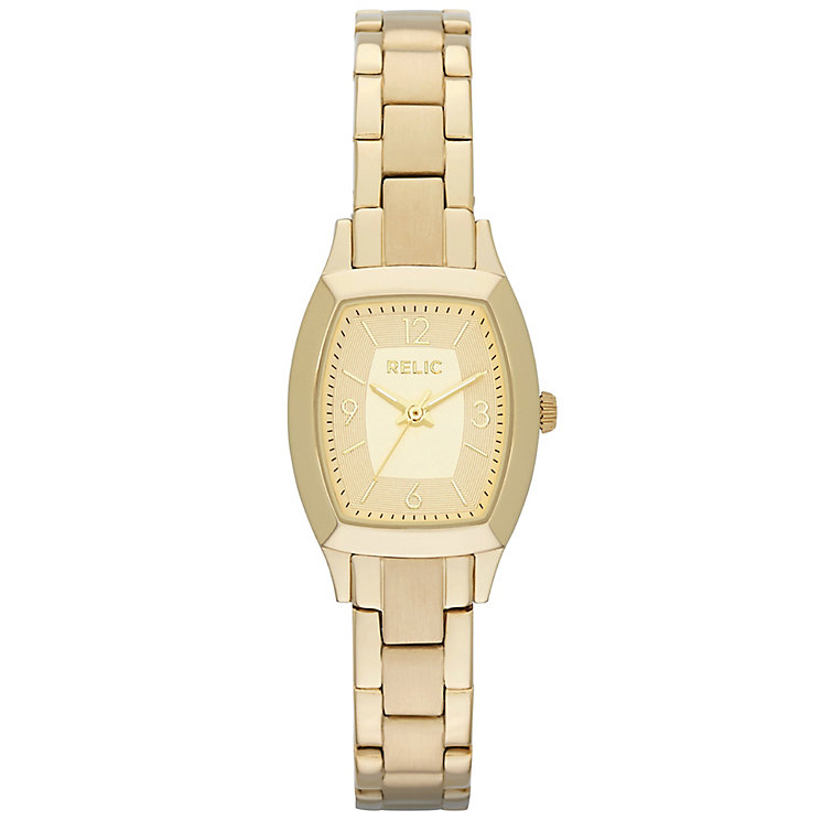Relic Ladies' Champagne Dial Gold-Plated Bracelet Watch - Product number 4608216