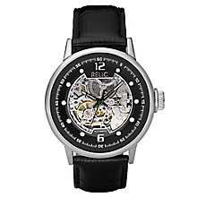 Relic Men's Black Dial Black Leather Strap Watch - Product number 4608518