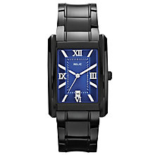 Relic Men's Blue Dial Black Ion-Plated Bracelet Watch - Product number 4608615