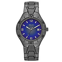 Relic Men's Blue Dial Gunmetal Ion-Plated Bracelet Watch - Product number 4608720