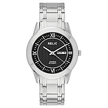 Relic Men's Black Dial Stainless Steel Bracelet Watch - Product number 4608739