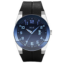 Relic Men's Blue Dial Black Rubber Strap Watch - Product number 4609093