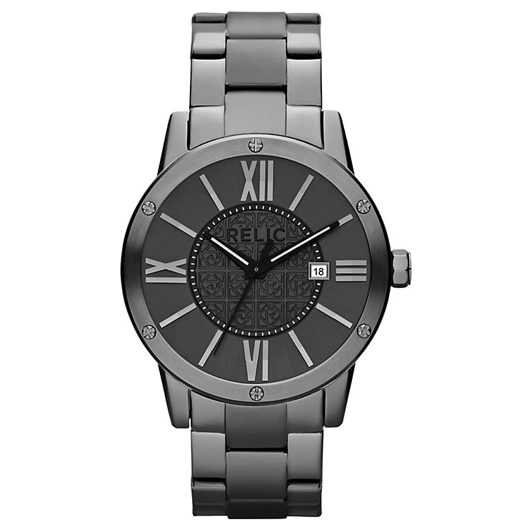 Relic Men's Grey Dial Stainless Steel Bracelet Watch - Product number 4609220