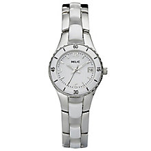 Relic Ladies' White Ceramic & Stainless Steel Bracelet Watch - Product number 4609263
