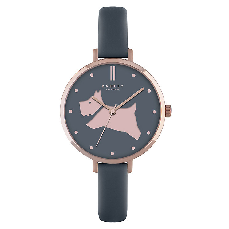 Radley Ladies' Rose Gold-Plated Blue Leather Strap Watch - Product number 4610350