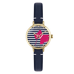 Radley Ladies' Stripped Dial Navy Strap Watch - Product number 4610377