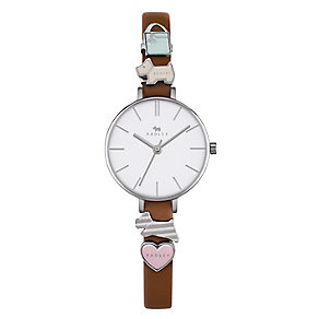 Radley Ladies' Chamred Tan Leather Strap Watch - Product number 4610393