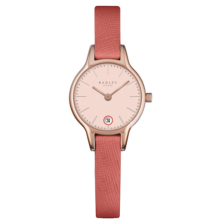 Radley Ladies' Stainless Steel Orange Leather Strap Watch - Product number 4610407