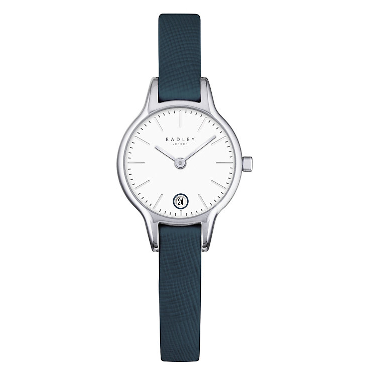 Radley Ladies' Stainless Steel Navy Leather Strap Watch - Product number 4610415