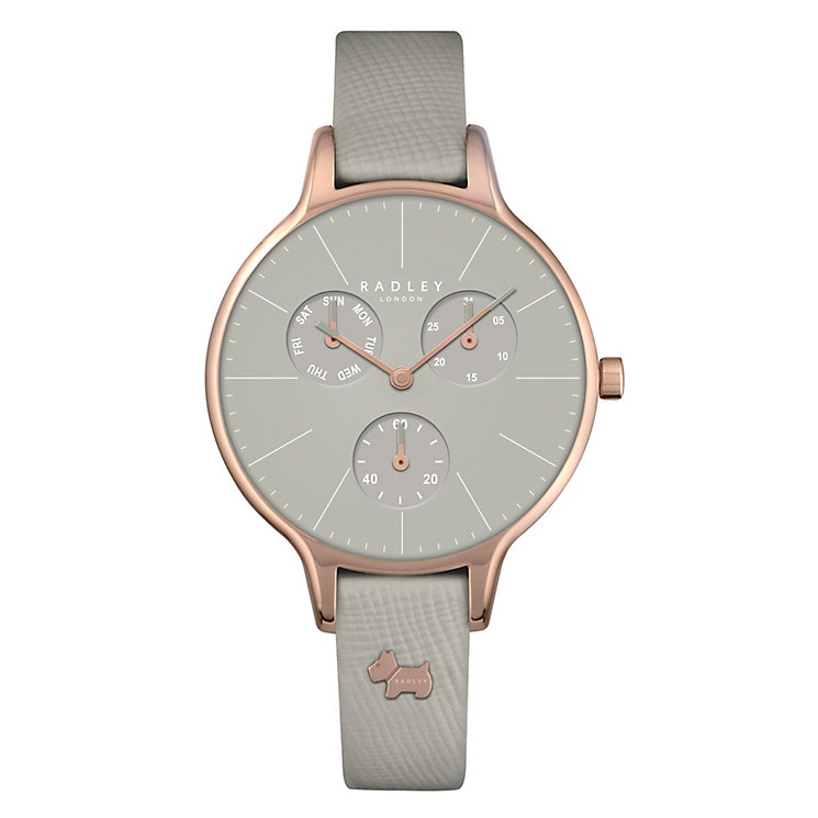 Radley Ladies' Rose Gold-Plated Grey Leather Strap Watch - Product number 4610466