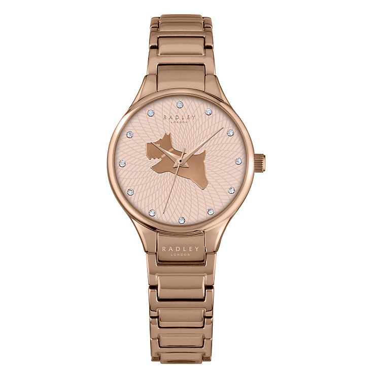 Radley Ladies' Stone Set Rose Gold-Plated Stainless Watch ...
