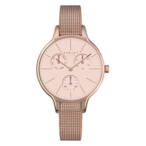 Radley Ladies' Rose Gold-Plated Mesh Bracelet Watch - Product number 4610512