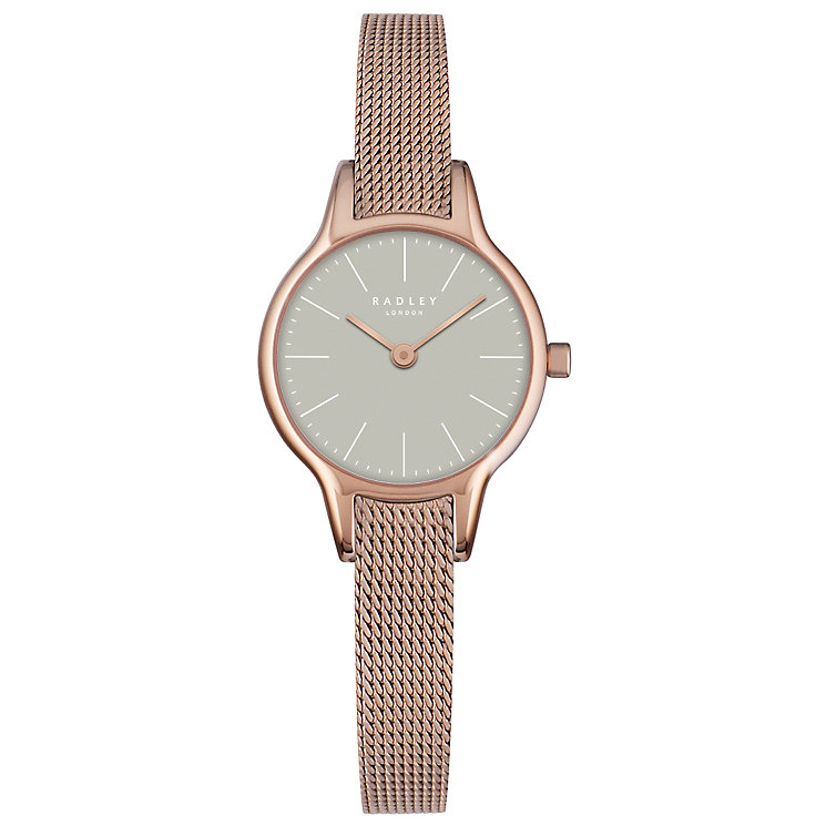 Radley Ladies'  Rose Gold-Plated Mesh Bracelet Watch - Product number 4610539
