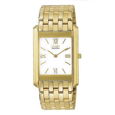 Citizen Eco-Drive men's gold-plated bracelet watch - AR1002-56A