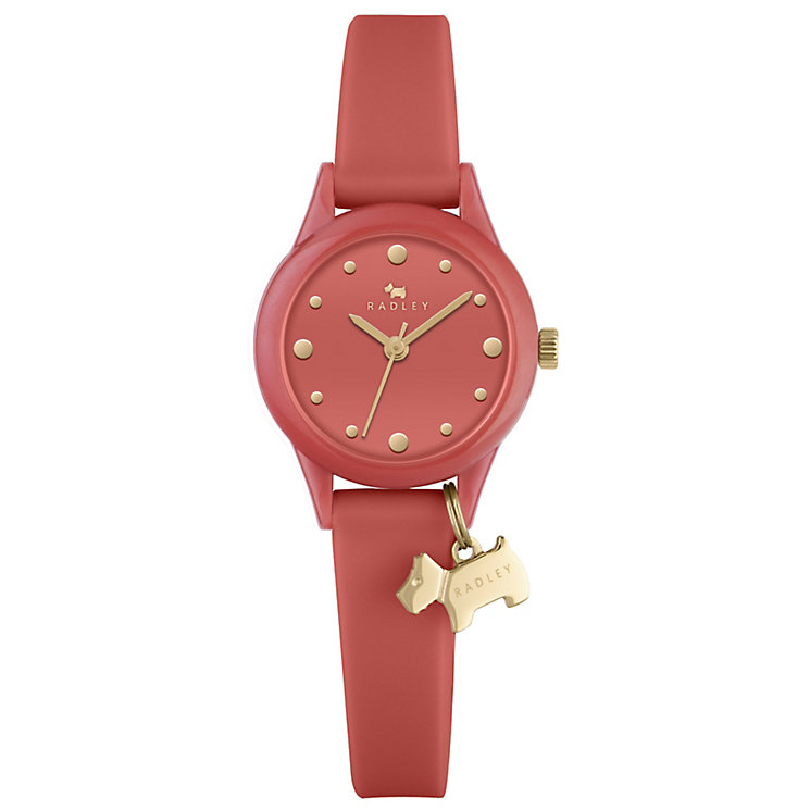 Radley Ladies' Orange Dial Orange Silicone Strap Watch - Product number 4612485