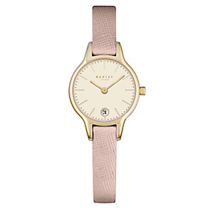 Radley Ladies' Champagne Dial Pink Leather Strap Watch - Product number 4612507