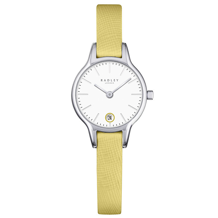 Radley Ladies' White Dial Mustard Yellow Leather Strap Watch - Product number 4612515