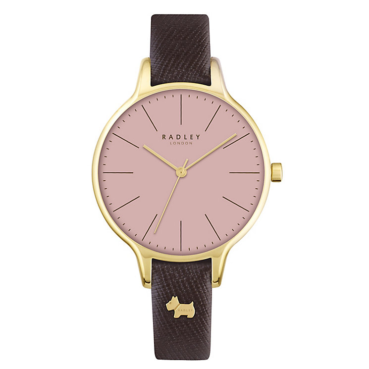 Radley Ladies' Pink Dial Tan Leather Strap Watch - Product number 4612523