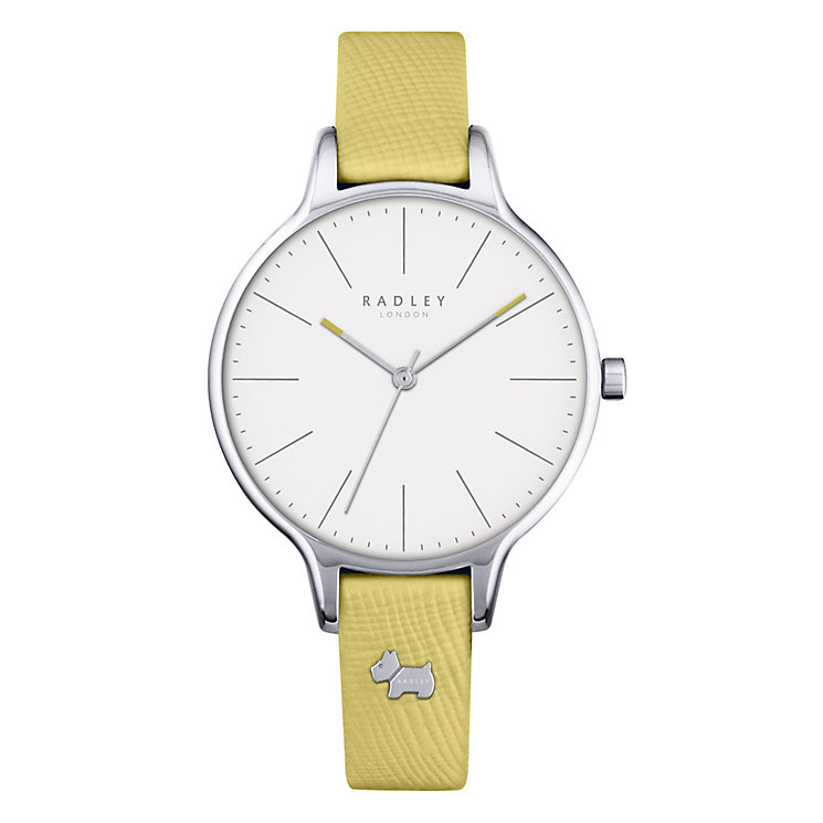Radley Ladies' White Dial Mustard Yellow Leather Strap Watch - Product number 4612531