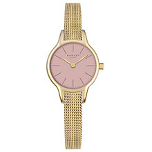 Radley Ladies' Pink Dial Gold-Plated Mesh Bracelet Watch - Product number 4612558