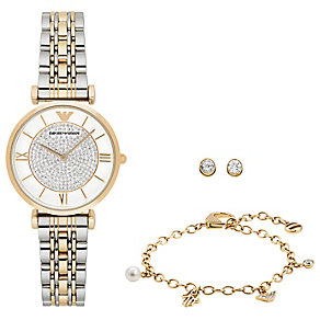 Emporio Armani Ladies' Bracelet Watch Jewellery Set - Product number 4612825