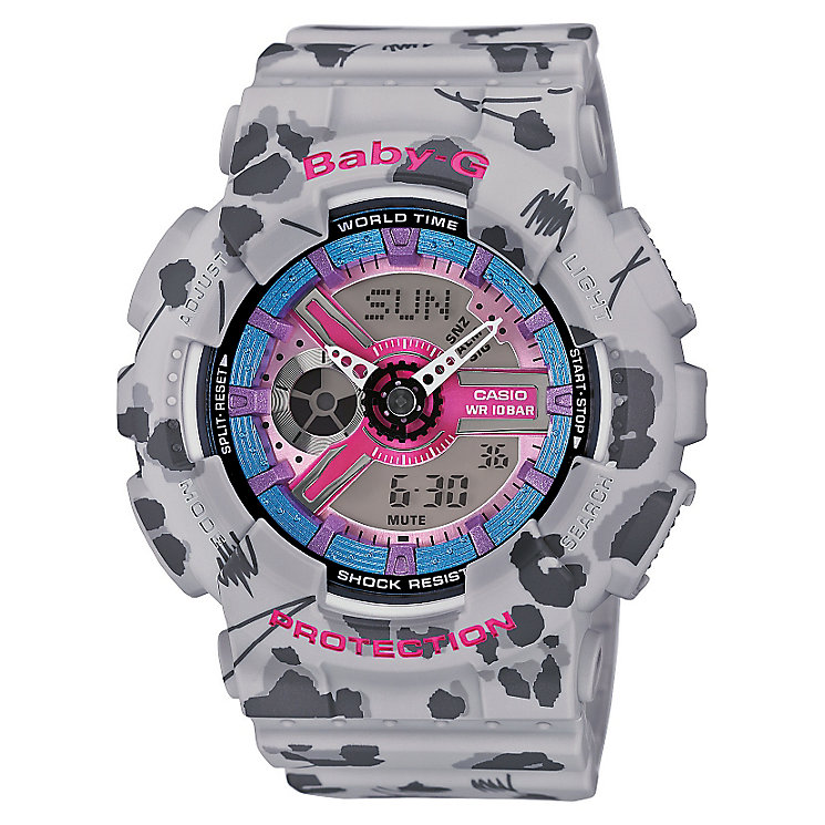 Baby-G Floral Leopard With Grey Resin Strap - Product number 4614496