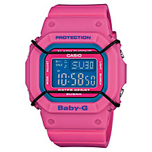 Casio Baby-G Pink Multicolour Dial Resin Strap Watch - Product number 4614747