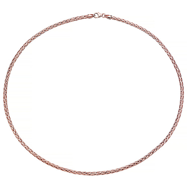 9ct Rose Gold Wheat Link Necklace - Product number 4614798