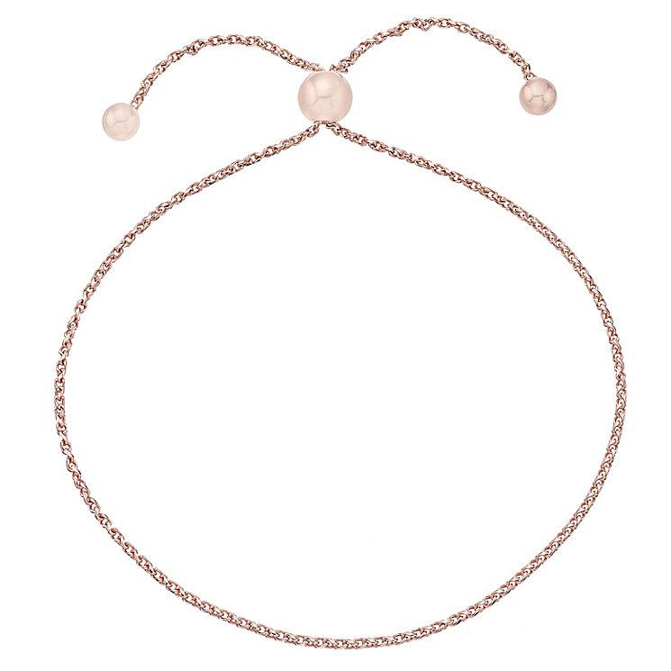 9ct Rose Gold Threader Bracelet - Product number 4615581