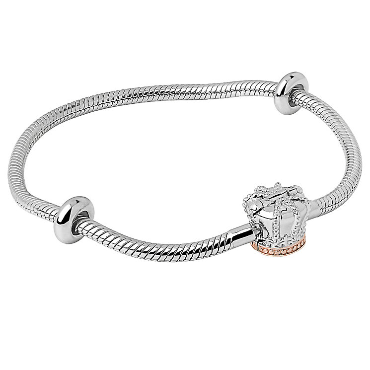 Clogau Gold Milestone Silver & Gold Crown Bead Bracelet 17cm - Product number 4617681