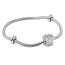 Clogau Gold Milestone Silver & Gold Crown Bead Bracelet 19cm - Product number 4617711