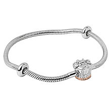 Clogau Gold Milestone Silver & Gold Crown Bead Bracelet 21cm - Product number 4617738
