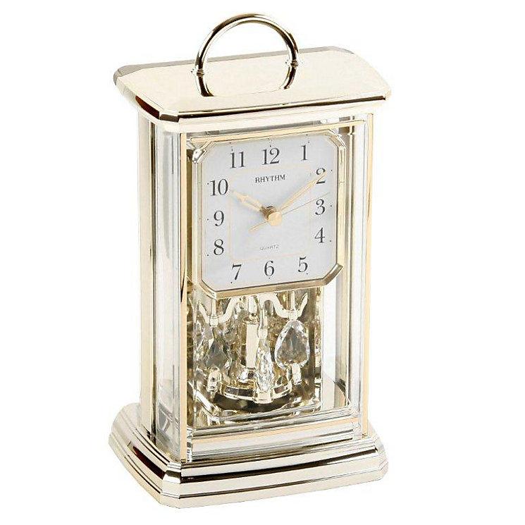 Rhythm Gold Tone Mantel Clock