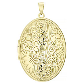 9ct Extra Large Swirl Locket Without Chain - Product number 4620321